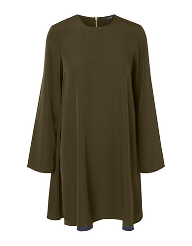 Vero Moda Vanessa Short Dress-DARK OLIVE-X-Small
