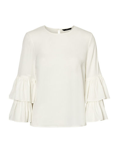 Vero Moda Dellie Blouse-WHITE-Medium