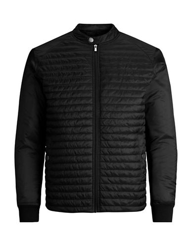 Jack And Jones Premium Quilted Zip-Front Jacket-BLACK-Large
