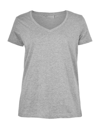 Vero Moda Joy Spicy V-Neck Top-GREY-Small