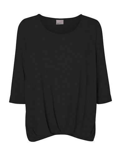 Vero Moda Zhei Fold Up Top-BLACK-Large