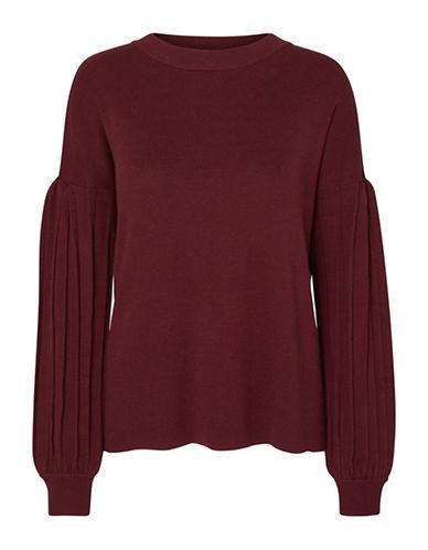 Vero Moda Cotati Raglan Sleeve Sweater-ZINFANDEL-Small