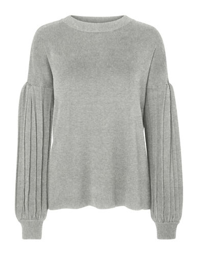 Vero Moda Cotati Raglan Sleeve Sweater-GREY-X-Small