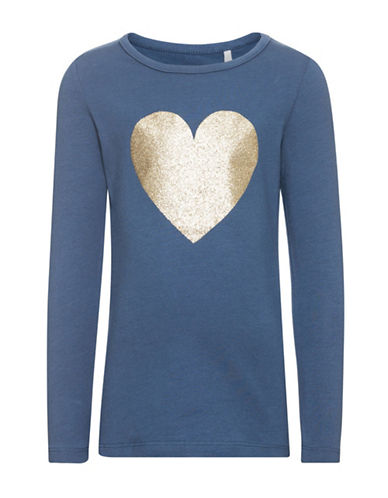 Name It Name It Graphic Long Sleeve Top-BLUE-2T