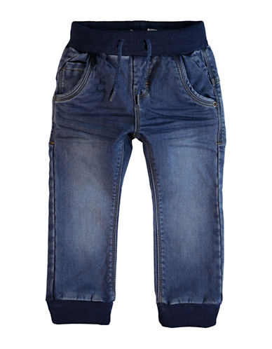 Name It Rib-Knit Ankle-Length Jeans-BLUE-4