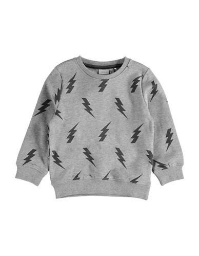 Name It Lightning Bolt Print Sweatshirt-GREY-2