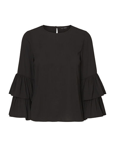 Vero Moda Dellie Blouse-BLACK-Small
