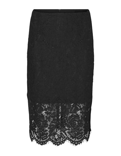 Vero Moda Mable Lace Skirt-BLACK-Large