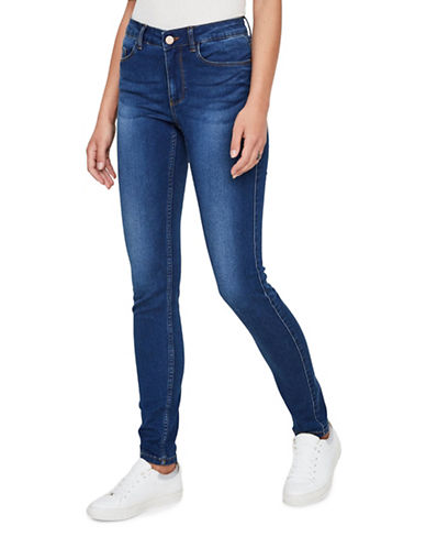 Noisy May Lucy Extreme Soft Skinny Jeans-MED BLUE-X-Large
