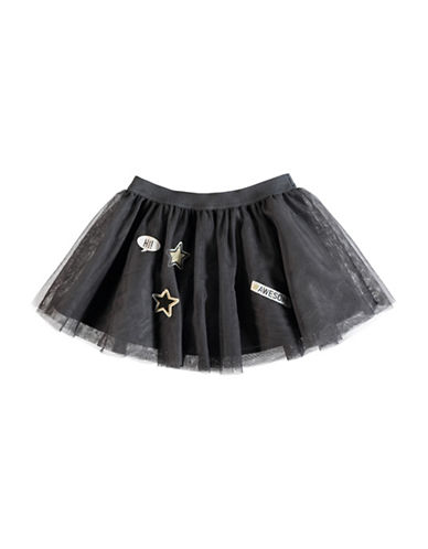 Name It Patched Tulle Skirt-GREY-6M