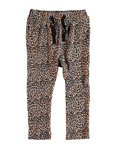 Name It Animal Print Knit Pants-SAND-6M