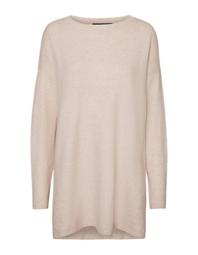 Vero Moda Brilliant Long Sweater-PINK-Medium