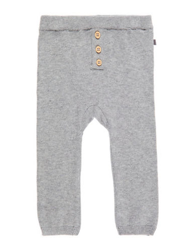 Name It Organic Cotton Knit Pants-GREY-9 Months