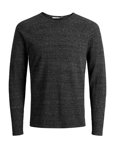 Jack And Jones Premium Speckled Knit Sweater-DARK GREY-X-Large