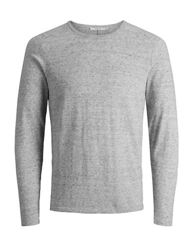 Jack And Jones Premium Speckled Knit Sweater-GREY-XX-Large