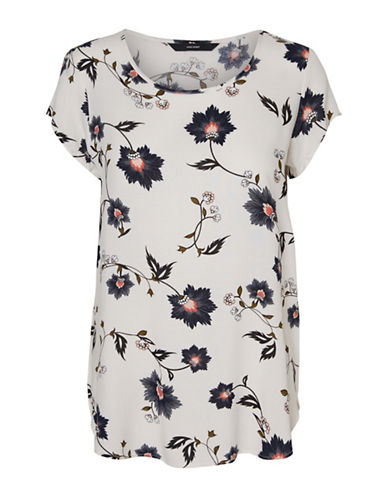 Vero Moda Boca Cap-Sleeve Blouse-WHITE-Large