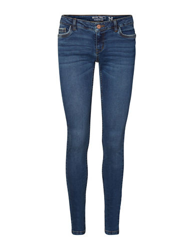 Noisy May Lucy Skinny Jeans-DARK BLUE-29X32