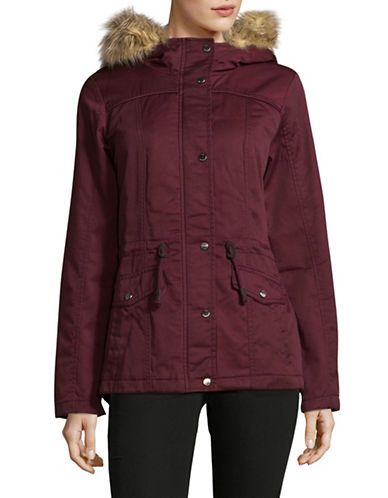Only Kate Canvas Parka-BURGUNDY-Large