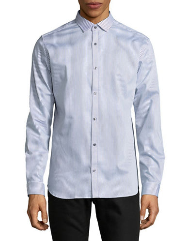 Jack And Jones Premium Vertical Stripe Sport Shirt-WHITE-Medium