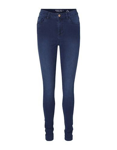 Noisy May Lexi Soft Jeans-DARK BLUE DENIM-X-Small