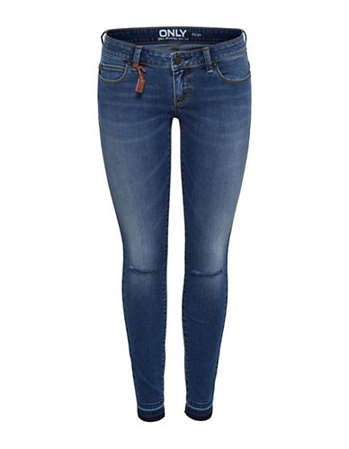 Only Ripped Skinny Ankle Jeans-MEDIUM BLUE-28 32
