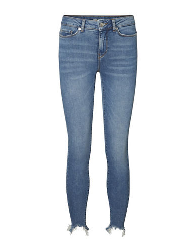 Vero Moda Washed Distressed Jeans-BLUE-30