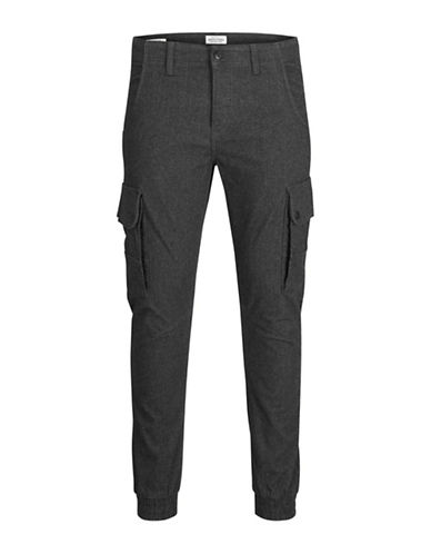 Jack & Jones Slim-Fit Cargo Pants-GREY-28X32