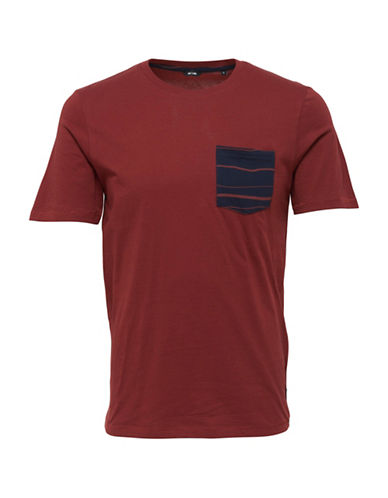 Only And Sons Pocket Cotton Tee-BROWN-XX-Large