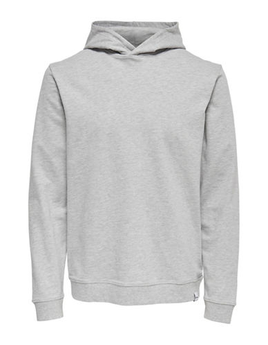 Only And Sons Hooded Sweatshirt-LIGHT GREY-Large