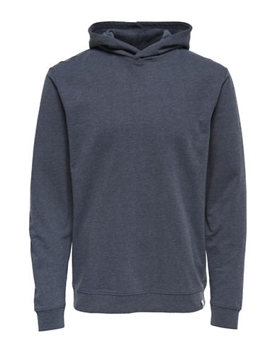 Only And Sons Hooded Sweatshirt-BLUE-Medium