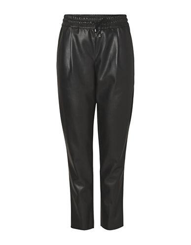 Vero Moda Faux-Leather Loose Pants-BLACK-Small 89606522_BLACK_Small
