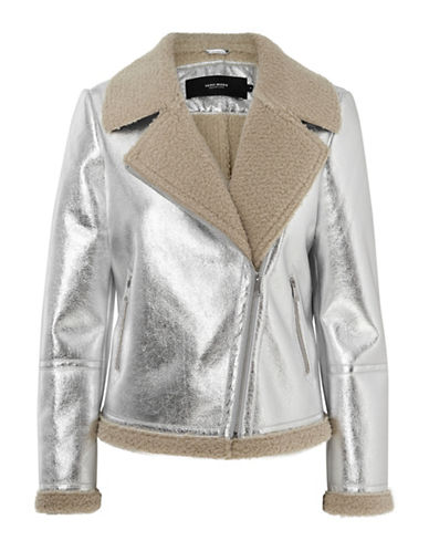 Vero Moda Faux Suede Panelled Jacket-SILVER-X-Small