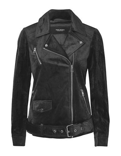 Vero Moda Morlon Velvet Jacket-BLACK-Large