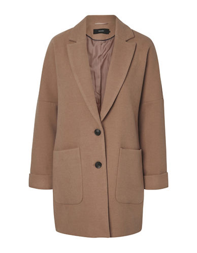 Vero Moda Pia Cala Coat-BROWN-Small