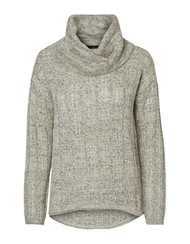 Vero Moda Amanda Jive Cowl Neck Pullover-GREY-Large