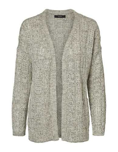 Vero Moda Amanda Jive Pocket Cardigan-GREY-Large