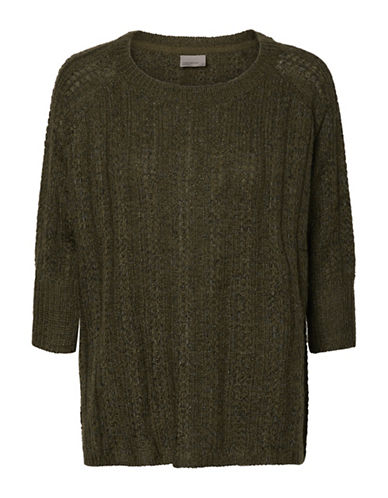 Vero Moda Vmamanda Jive Oversized Sweater-GREEN-Large