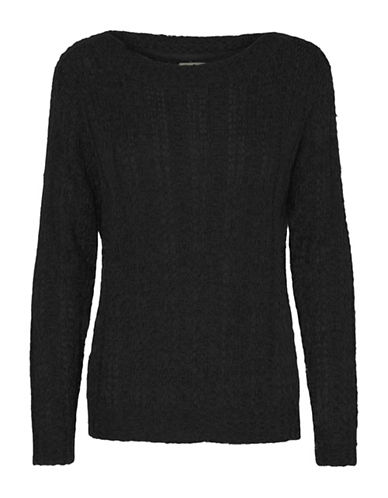 Vero Moda Amanda Jive Knit-BLACK-Large