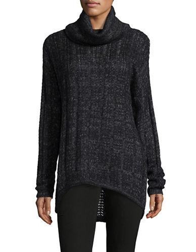 Vero Moda Amanda Jive Cowl Neck Pullover-DARK BLACK-Small