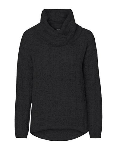 Vero Moda Amanda Jive Cowl Neck Pullover-BLACK-X-Small