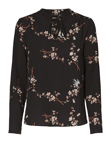 Vero Moda Celia Long-Sleeve Top-BLACK-Large