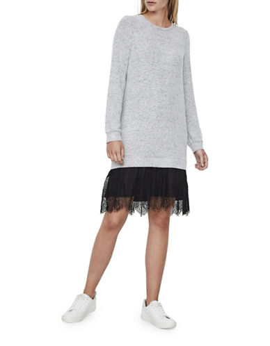 Vero Moda Gigi Sweater Dress-GREY-Large