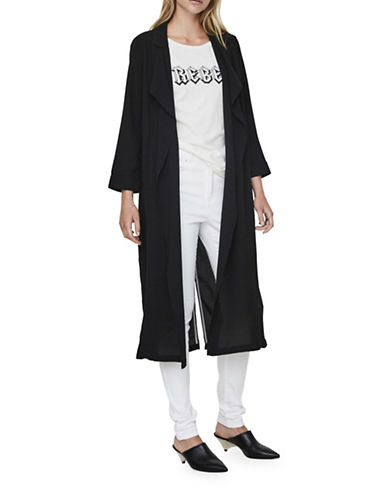 Vero Moda Libi Loose Long Blazer-BLACK-Small