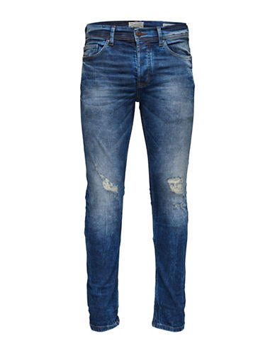 Only And Sons Casual Slim Jeans-BLUE-28X34