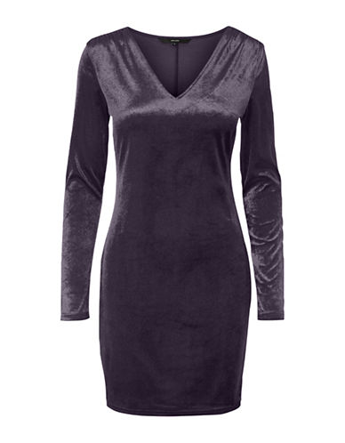 Vero Moda Nadia Long-Sleeve Dress-PURPLE-X-Large