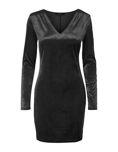 Vero Moda Nadia Long-Sleeve Dress-BLACK-X-Large