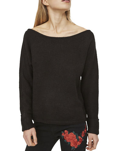 Noisy May Off-The-Shoulder Top-BLACK-Small