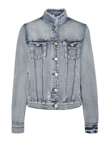 Noisy May Mino Denim Jacket-LIGHT BLUE-Medium