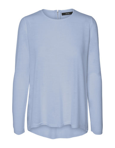 Vero Moda Samie Zip Back Sweater-BLUE-Small