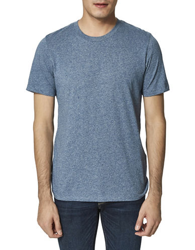 Selected Homme Twist Melange T-Shirt-BLUE-Medium